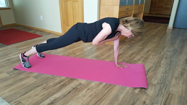 Long Arm Plank Exercise