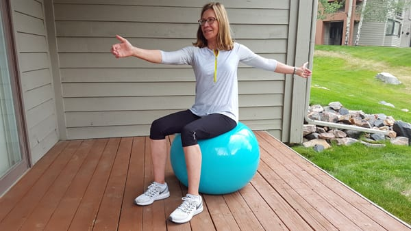 Active Range of Motion - Sitting on Stability Ball
