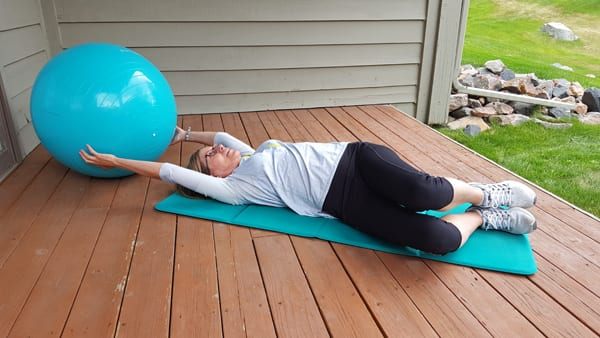 Stretching Twist with Stability Ball