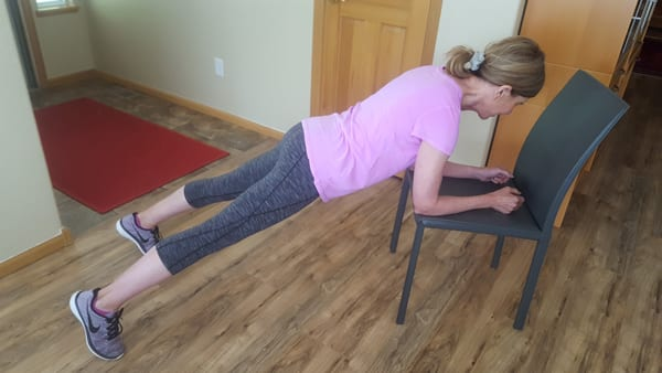 Chair Plank | With Toe Tap