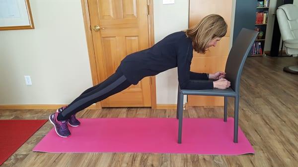 Chair Plank - Kristen Carter | Design for Fitness