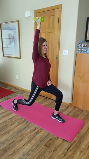 Stationery Lunge with Shoulder Press